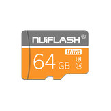 NUIFLASH TF Card U3 C10 Memory Card 128G Smart Data Card for Mobile Phone Camera with SD Card Adapter