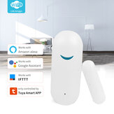 Tuya Smart WiFi Door Sensor Window Sensor Door Open/Closed Detectors Wifi Home Alarm Compatible With Alexa Google Home Tuya APP