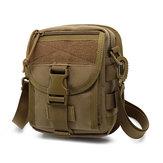 Army Style Nylon Tactical Men Shoulder Bolsa Messenger Bolsa para esportes viagens caminhadas