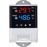Termostato Termorregulador Sensor Microcomputador Temperatura Umidade Controlador para Incubadora Resfriamento Aquecimento Geladeira Peixe Animal de Estimação Réptil Aquário Aquário Incubação em Aquário