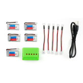 5X Eachine E011 E011C JJRC H67 3.7V 260MAH 30C Battery Charger Set RC Quadcopter Spare Parts