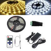 5M SMD5050 Non impermeabile LED Strip Light + 11 chiavi remoto Connettore femmina Control + DC + Adattatore 5A