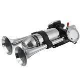 12V/24V 300DB Dual Trumpet Air Horn Super Loud For Car Van Boat Pickup Universal