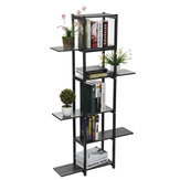 6 niveaus Houten boekenplank Plant Flower Stand Opbergrek Home Office Decorations Stand