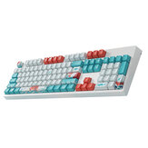 108 Tombol Coral Sea Keycap Set Profil OEM PBT Dye-Sublimation Suspension Keycaps untuk Keyboard Mekanik