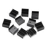 10 Adet TO-220 Alüminyum Triode Isı Emici 25x23.5x15.8mm Alüminyum Radyatör