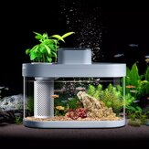 Geometria Fish Tank From Smart Feeder 7 Colors LED Light Self-Cleaning High Efficiency Filtration Mini Aquarium with App Control