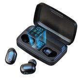 TOPK T10 TWS bluetooth headset ujjlenyomat Power Bank érintésvezérlő sztereó 3D Surround stabil csatlakozás ergonomikus kialakítású fülhallgató