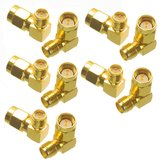 10PCS SMA Male to RP-SMA Female Right Angle RF Adapter Connector For RC Drone