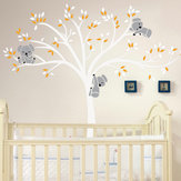 Mural removível Koala Árvore Wall Sticker Kids Decals Home Room Nursery