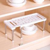 シンクの下の調節可能な取り外し可能な整理整頓された棚のキッチンラックオーガナイザー