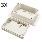 3Pcs White Plastic Waterproof Electronic Case PCB Box 100x68x50mm