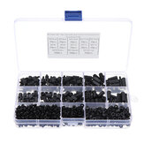 Suleve™ M3NH16 780Pcs M3 Nylon Screw Black Hex Screw Nut Nylon PCB Standoff Assortment Kit