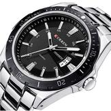 CURREN 8110 Серебряный черный Дата Спорт из нержавеющей стали ремешок Мужчины наручные часы