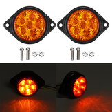 2PCS 24V 6 LED Trailer Rear Tail Stop Light Indicator Lights For Caravan Truck Van