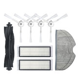 9pcs Replacements for 360 S7 S5 Vacuum Cleaner Parts Accessories Main Brush*1 Side Brushes*4 HEPA Filters*2 Mop Clothes*2