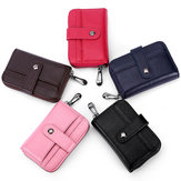 Women Men Genuin Leather 12 Card Slots Card Holder Wallet