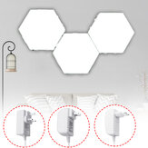 3PCS DIY White Hexagonal Lamp Quantum Modular Touch Sensitive Wall LED Night Light