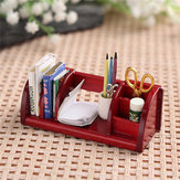 1:12 Dollhouse Toys Miniature Furniture Book Shelf Organizador Rack