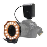 SHOOT SL-103C Macro Ring Flash Light LED GN15 6800K Diameter 52 55 58 62 67 72 77mm Adapter Ring