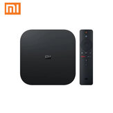 Xiaomi Mi Box S 2GB DDR3 8GB 4K Ultra عالي الوضوح عالي الوضوح أندرويد 9.0 5G WIFI bluetooth 4.2 TV Box Streaming وسائط متعددة Player with Voice مراقبة Global Version