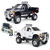 HG P410 1/10 2.4G 4WD RC Car 3 Speed Pickup Truck Rally Vehicles sem carregador Bateria