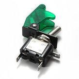 5x cubierta del coche verde LED spst palanca de control del interruptor basculante 12v 20a