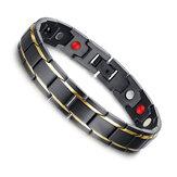 Black 316L Titanium Health Pulseira magnética Jóias para homens