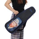 トム23インチヴァンゴッホシリーズウクレレバックパックハンドバッグ