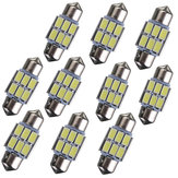 31mm 5630 6-SMD Festoon LED Interior Map Dome Lights Bulb DE3175 3022 3021 2W White 10PCS