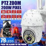 79LEDS 1080P HD IP Wireless PTZ CCTV Outdoor Camera WiFi Security Waterproof IR Night Camera