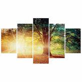 5 piezas pintura decorativa de pared árbol en el sol cuadros de arte impresiones en lienzo decoraciones de oficina en casa sala de estar Oil pinturas
