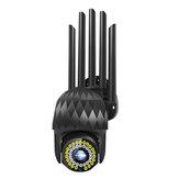 Guudgo 1080P 39 LED 5 XZOOM Outdoor PTZ IP Preto Câmera Bidirecional Áudio Wifi Câmera Auto à prova d'água Visão Noturna CFTV Vídeo Vigilância