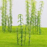 20 Pcs HO / OO Escala Modelo Árvore de Bambu para a Construção de Cenários de Arquitetura de Layout de Cena de Rua