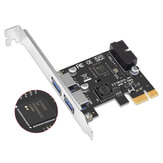 SSU N14S PCI - E to USB 3.0 Expansion Card with Front 19 / 20 Pin Interface for Desktop Computer