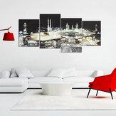 4PcsIslamiqueMecqueKaabaHajj Affiche Mur Art Toile Imprimer BRICOLAGE Home Decor Peintures