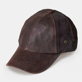 Heren Buffalo Hide And Suede Verstelbare Curve Brim Daily Outdoor Baseball Hat