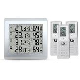 3 Sensori Allarme digitale wireless Termometro Indicatore acustico esterno per interni