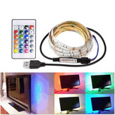 1M 2M 3M 5V 5050 USB RGB Wodoodporna taśma LED Light Bar TV Back Lighting + 24 Keys Remote Control