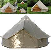 3متر4متر5متر 6 متر كبيرة جرس خيمة ضد للماء القطن قماش glamping الستارة الزفاف الاحتفال المظلة ظلة التخييم