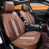 1 قطعة ديلوكس بو الجلود السيارات مقعد السيارة غطاء وسادة أمامية كاملة العالمي
