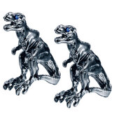 1 Pair Cool Tyrannosaurus Rex Unisex Punk Dinosaur Stud Earrings For Men And Women