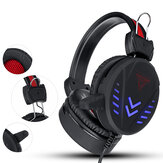 Bakeey 3.5mm Super Pass Gaming Headset Stereo LED Colorful Lâmpada de respiração Fone de ouvido Hifi Heavy Bass Game Headphone