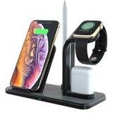 Sạc không dây Qi Sạc nhanh Điện thoại Đế giữ Đồng hồ Giữ bút chì Giá đỡ tai nghe cho điện thoại thông minh Apple Watch Apple AirPods