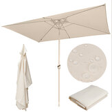 10ft x 6.6ft 6 Ribs Patio Umbrella Canopy Replacement Parasol Sunshade Top Cover Waterproof UV Protect for Outdoor Garden