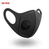 20 pezzi PM2.5 Maschere per il viso campeggio Ciclismo da viaggio Filtro a 3 strati Maschera antipolvere traspirante