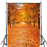 5x7ft Виниловая осень Осенняя фотография Фоновая фотография Studio Prop Backdrop
