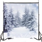 10x10FT Vinyl Winter Snow Lonely Forest Photography Backdrop Background Studio Prop