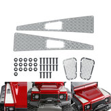 Alloy Grill Mesh + Skid Plate with Screws Nuts for TRX4 82056-4 1/10 RC Car Spare Parts
