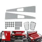 Malha de grade de liga + placa antiderrapante com porcas de parafusos para TRX4 82056-4 1/10 RC Car Spare Parts